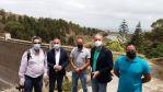 Francisco Castellano visita algunas instalaciones deportivas del municipio de Arucas y conoce el proyecto deportivo de las presas de Pinto