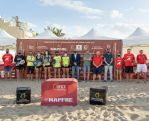 Francisco Castellano, en la entrega de premios del Campeonato de España Mapfre Tenis Playa 2021